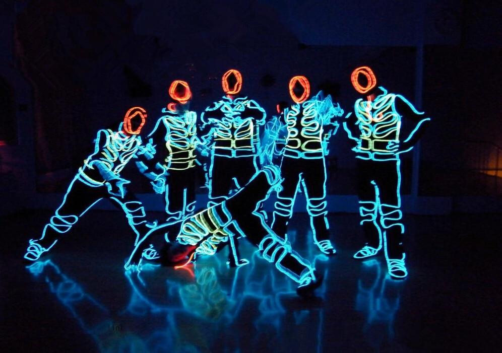 LED színpadi jelmezek EL hideg fény show tánc / este / - Ünnepi és party kellékek
