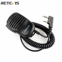 J1015A New Black 2 Pin High Quality Mini PTT Speaker MIC For Radio Kenwood QUANSHENG PUXING