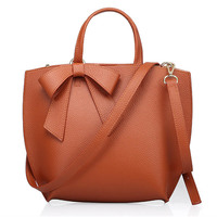 YISHEN Echte Koe Lederen Grote Capaciteit Messenger Bags Top Handvat Boog Handtassen Mode Dames Crossbody Bag Pretty Totes QSL0771