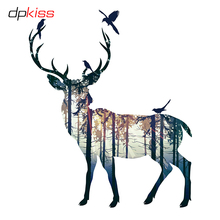 hot deal buy dpkiss modern forest deer home poster art print animals wall art home decor canvas painting for home picture decor poster