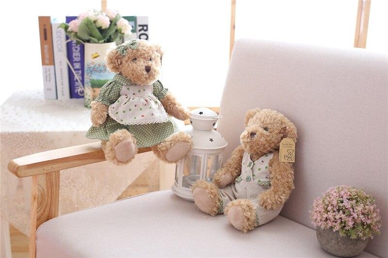 Cute Couple Teddy Bear Plush Toys Couple Bear Wedding Teddy Bears Soft Stuffed Dolls Valentine Day Kids Friends Lovers Birthday Christmas Gift 26cm 1 Pair (7)