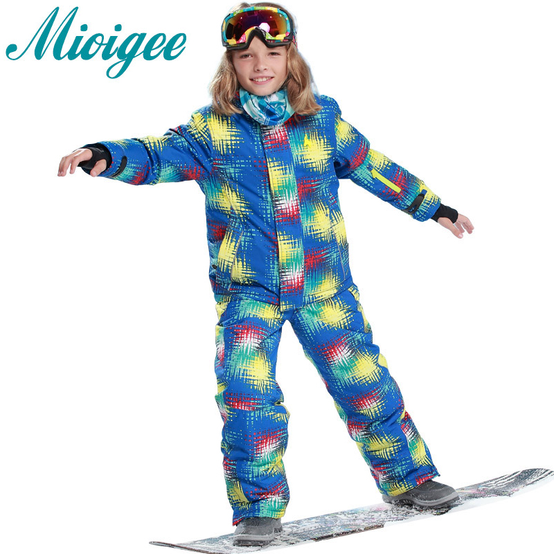 Mioigee 2017 Waterproof Windproof Suits Kids boys Clothes Ski Sets jacket+pants children winter clothes for girls 6-16T mioigee 2017 girls ski suit winter children clothing for boys suits jacket coat overalls windproof snowsuit baby outwear sets