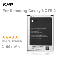 100 Original Brand KHP Phone Battery For Samsung Galaxy Note 2 II N7100 N7105 Replacement Mobile