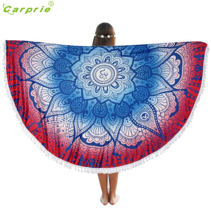 Hot! Factory Price Round Beach Pool Home Shower Towel Blanket Table Cloth Yoga Mat Bohemian Beautiful Gift drop shipping Mar16