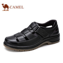 Camel men sandal 2016 spring daily casual comfortable first layer of cowhide male leather sandals shoes free shipping