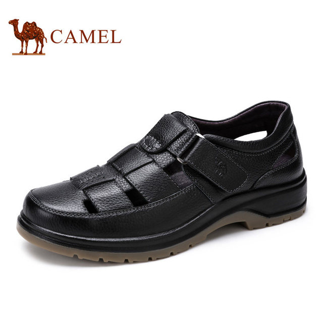 Camel men sandal 2016 spring daily casual comfortable first layer of  cowhide male leather sandals shoes