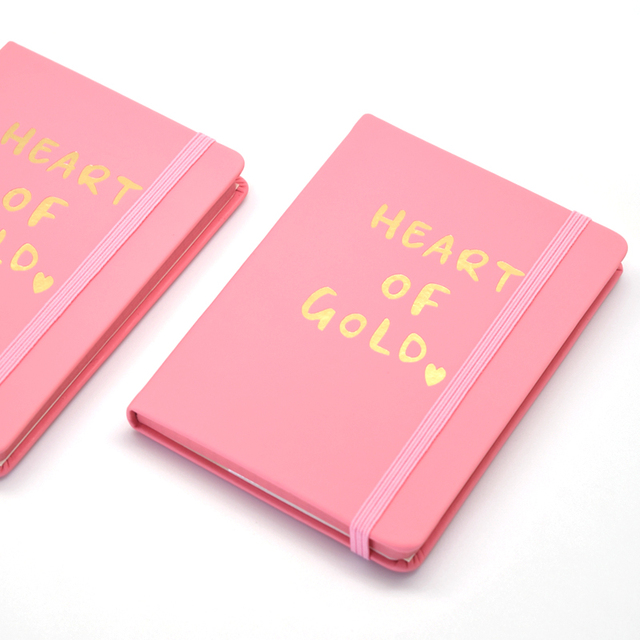 pocket mini notebook white pink navy band journal book 14