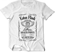 Dark Souls Estus Flask Game 3 Black Knight Weapons Ps Drink T Shirts Fitness Tshirt Short