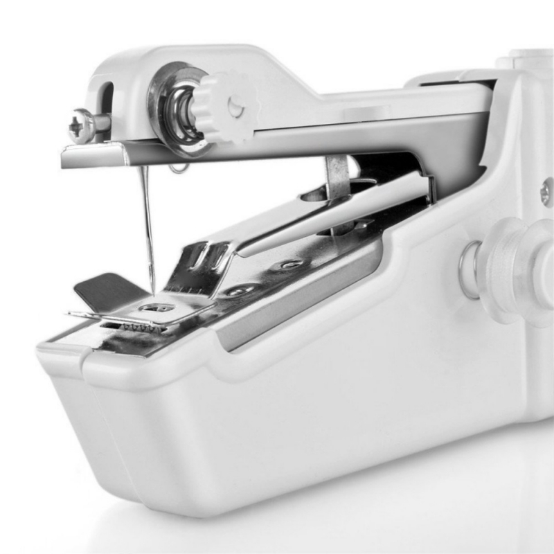 Mini Handheld Sewing Machine Portable Electric Stitch Sewing Machine Household Wireless Clothes Fabrics Repairs DIY Sewing Set N