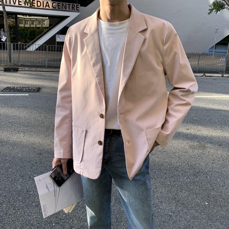 Весенний мужской костюм, корейский Повседневный стимпанк homme, мужской пиджак, хлопковый Классический английский стиль - Цвет: roses