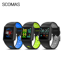 SCOMAS Smart Watch Blood Pressure Waterproof Smartwatch Women GPS Heart Rate Monitor Fitness Tracker Sport For Android IOS