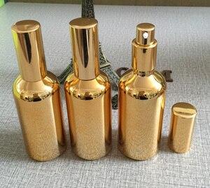 100ml golden high-grade glass body lotion bottle wholesale ,100 ml glass spray pump bottles for lotion, custom lotion bottles