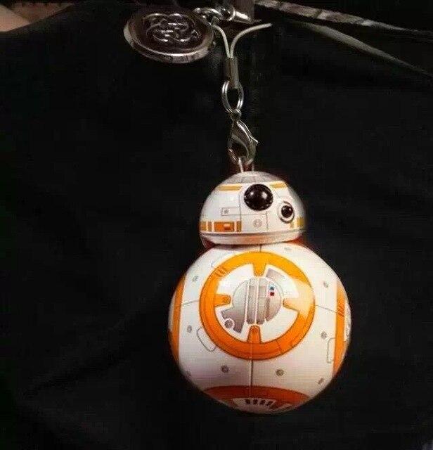 6 CM Star Wars VII la fuerza despierta BB8 BB-8 Droid Robot figura de acción del PVC colgante del bolso