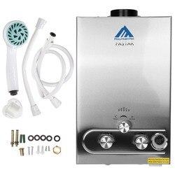 UE di Trasporto Libero! 8L Gas Propano GPL Caldaia Istantanea 2GPM Riscaldatore Senza Serbatoio di Acqua Calda In Acciaio Inox LCD Con Doccia Testa