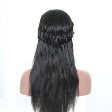 Silk Base Full Lace Human Hair Wigs Brazilian Remy Straight Natural Black Pre Plucked With Baby Hair Bleached Knots Sunny Queen