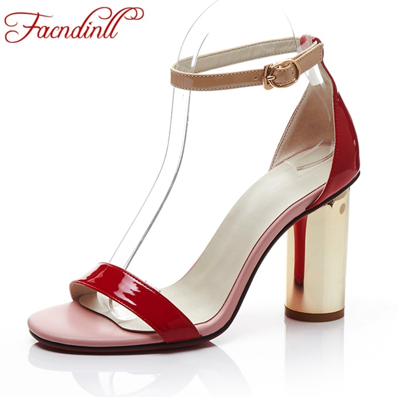 summer 2017 new fashion thick high heels sandals women shoes genuine leather sexy peep toe rome style gladiator shoes woman 2017 new sexy thin high heels peep toe shoes woman sandals genuine leather women silver party wedding gladiator summer sandals