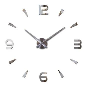Diy acryl spiegel wandklok grote quartz horloge stilleven moderne klokken woonkamer home decoratie 3d stickers