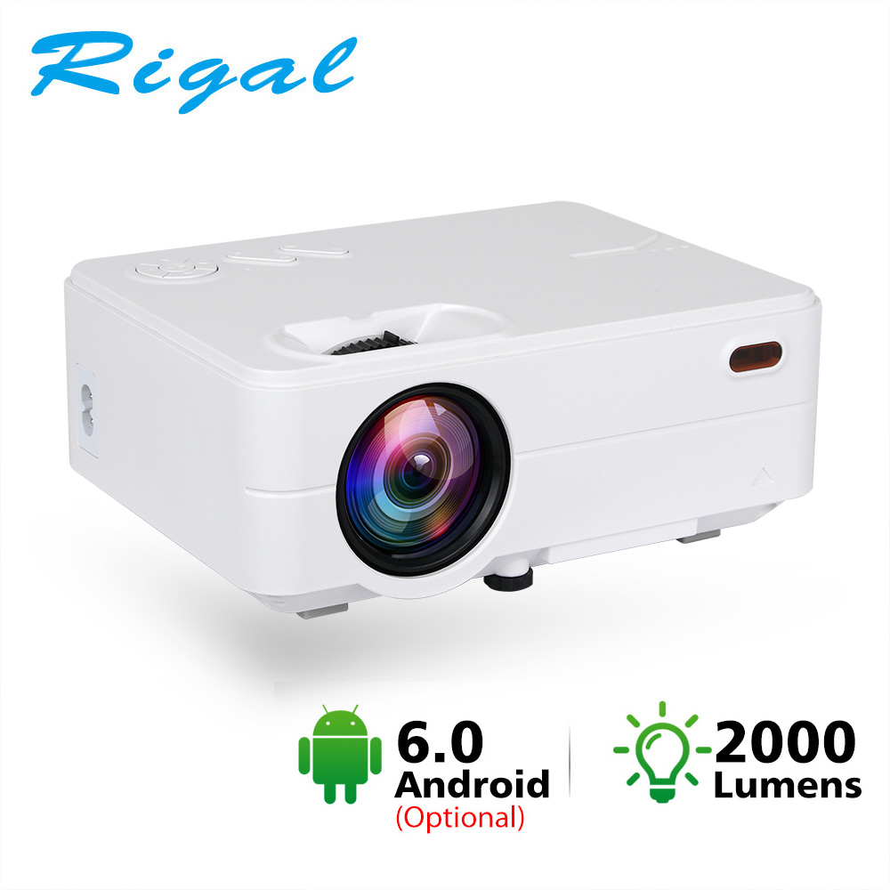 Rigal RD813 Mini Led Projector Android 6.0 WiFi Proyector 2000 Lumen Portable Home Cinema Theater TV Smart 3D Movie HD Projector(China)