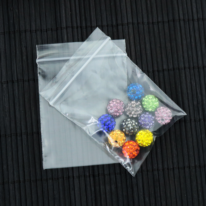 1000pcs/lot 4x6cm 40*60mm Ziplock Bag Zip Lock Self Sealing Reclosable Plastic Clear Poly Bag Favor Charm Jewelry Packaging Bags