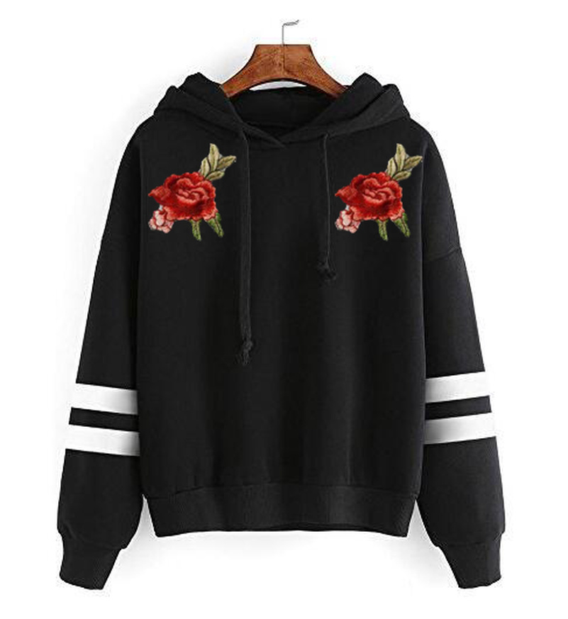 Flower Floral Hoodies Sweatshirts EuropeTops 2020 Women Casual Kawaii Fashion Kpop Sweat Punk For Girls Clothing Korean