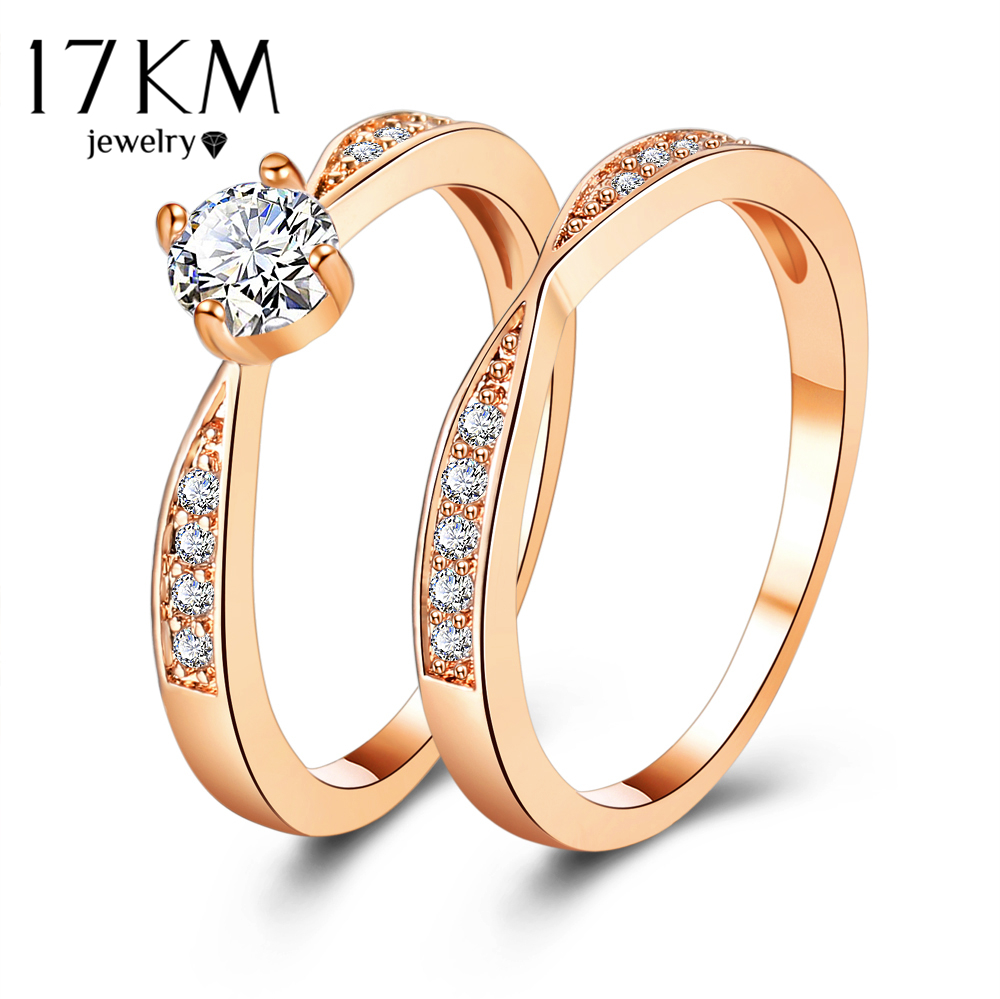 17KM Rose Gold Wedding Rings Jewelry Cubs