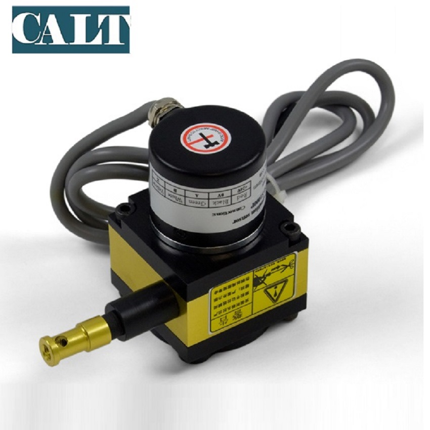 CALT draw wire displacement sensor 1000mm stroke wire encoder position transducer 4 20mA 0 10V 0