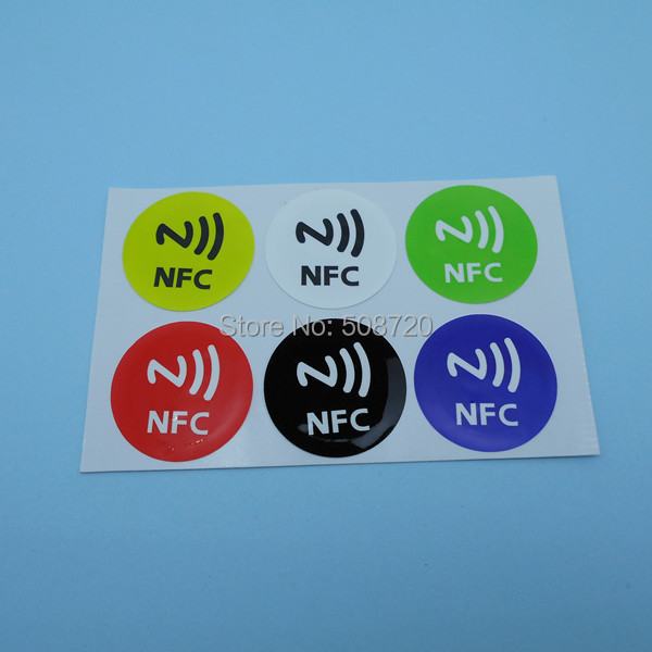 Universal Nfc Smart Tags Stickers Ntag203 for Samsung Note3 Galaxy S4 S5 Nokia Lumia920 Nexus4/10 HTC Sony LG smartrac nfc ntag 203 circus 23mm stickers set windows android htc samsung nokia
