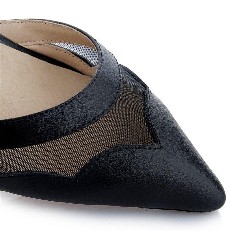 Гренадин пикантные остроносые Мэри Джейн босоножки из натуральной кожи высокие ботинки на каблуках средний каблук толстый каблук Женская ...