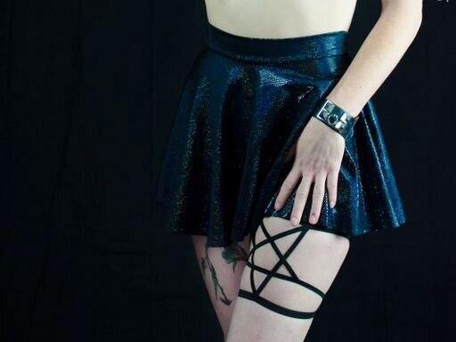 Europese en amerikaanse stijl hot pentagram harness been bandjes