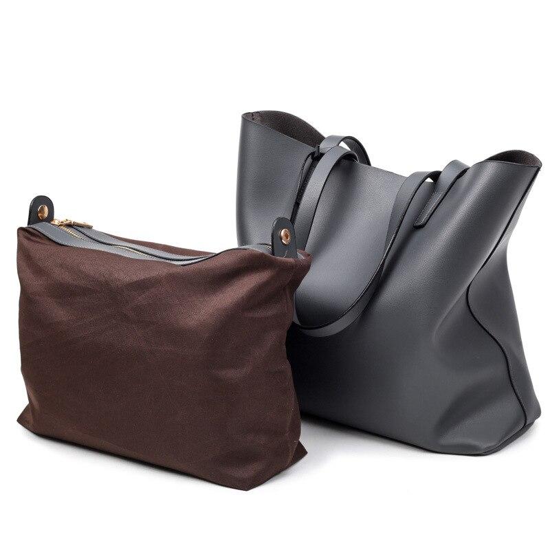 4a45dd13aef ICEV gloednieuwe top handvat tas vrouwelijke zwarte grote tassen handtassen  vrouwen beroemde merken grote capaciteit zachte pu handtas set in ICEV ...
