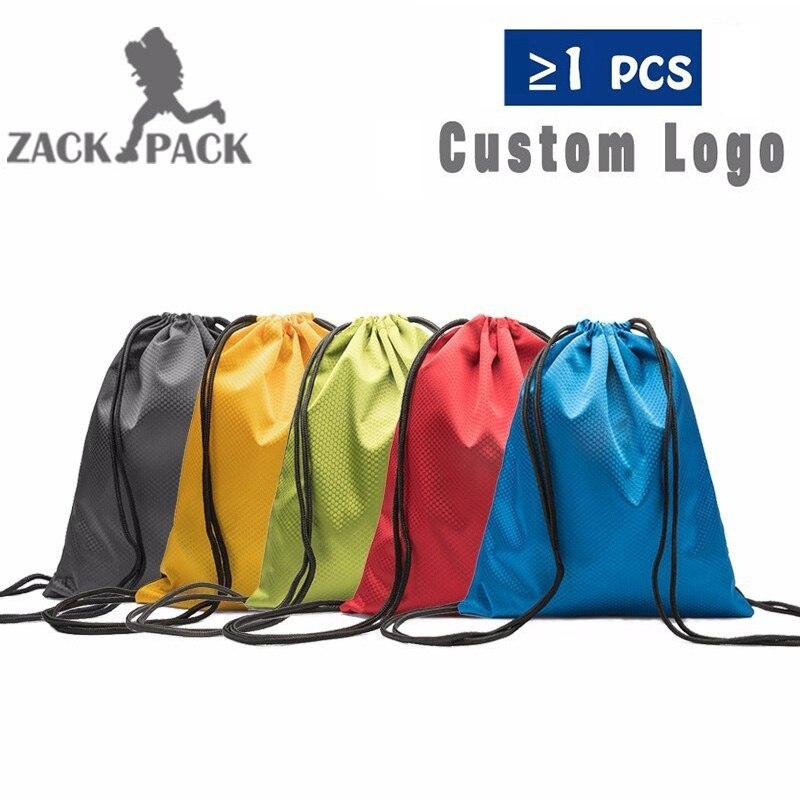 fa926ae4307e US $12.73 5PCS Sports Custom Logo Drawstring Bags Waterproof Oxford ...