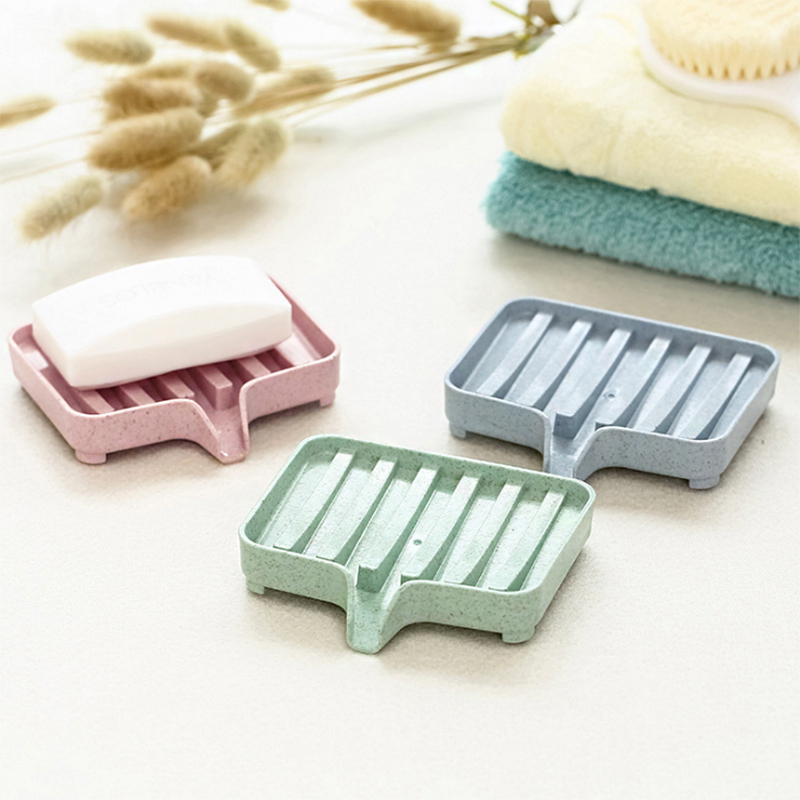 Self Water Drain Soap Holder SoapBox Case Portable Tray Simplified Container Hotel Bathroom Tool Shower Storage SoapDish Stand