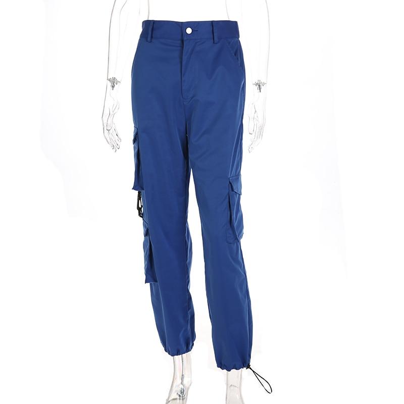 Patchwork Streetwear 53Off Unten Taille Blau Fracht Hosen Bleistift Hohe 11 Frauen Mode Lose weekeep Us17 In Taschen Schweiß SqMGzVpU