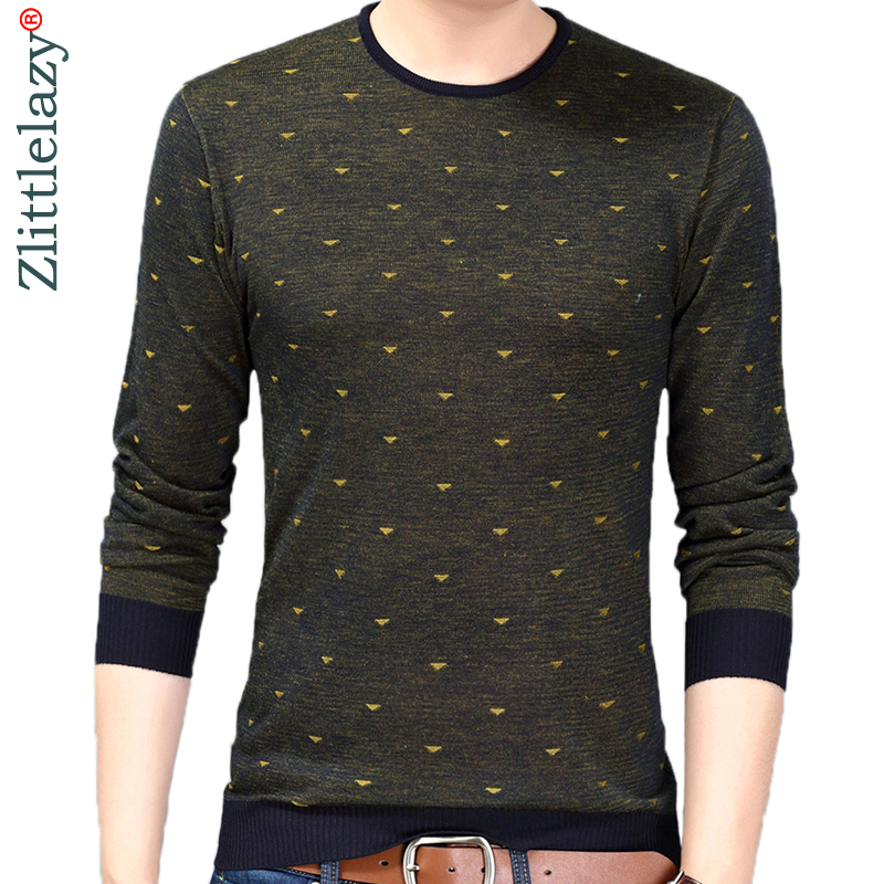 2019 Brand New Korean Style Thin Dot Pull Sweater Men Wear Jersey Dress Luxury Pullover Mens Sweaters Male Spring Fashions 24018