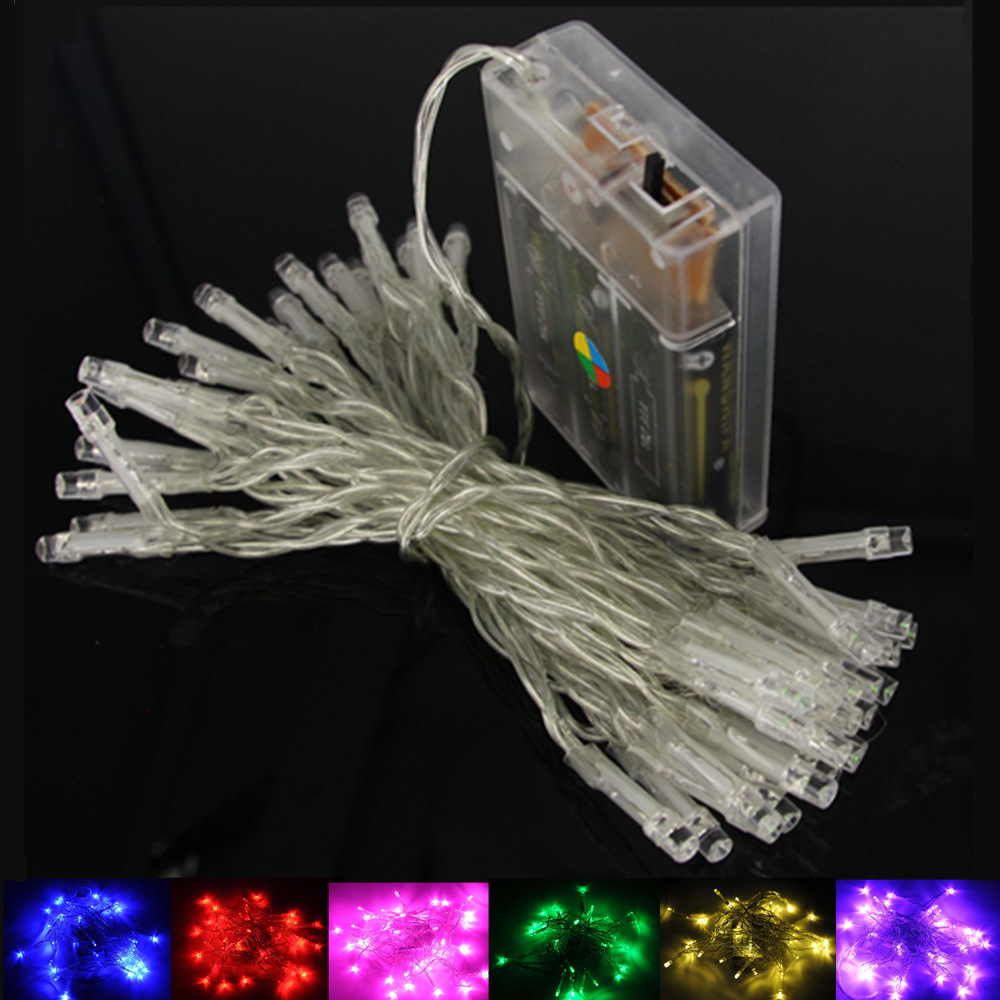 2m 5m 10m 20m led string lights 3aa battery operated waterproof fairy led christmas lights for holiday party wedding decoration