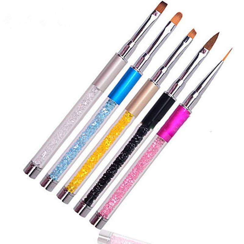 Nail Art Brush: Aliexpress.com : Buy 5 Colors Nail Art Brush Pen Painting