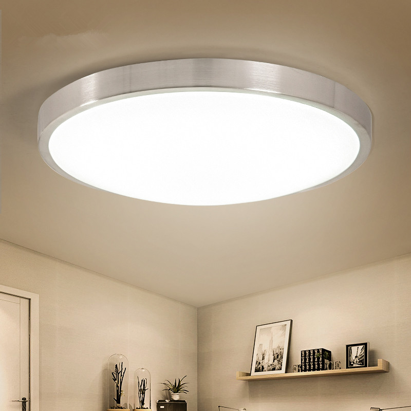 Kitchen Lighting Ceiling Fixtures: Modern LED Ceiling Lights White Round Light Fixtures For