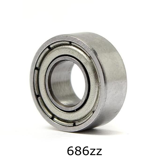 10pcs 6*13*5mm Deep Groove Ball Bearing 686ZZ Bearing Steel Sealed Double Shielded Dustproof for Instrument Electrical 10pcs 5x10x4mm metal sealed shielded deep groove ball bearing mr105zz