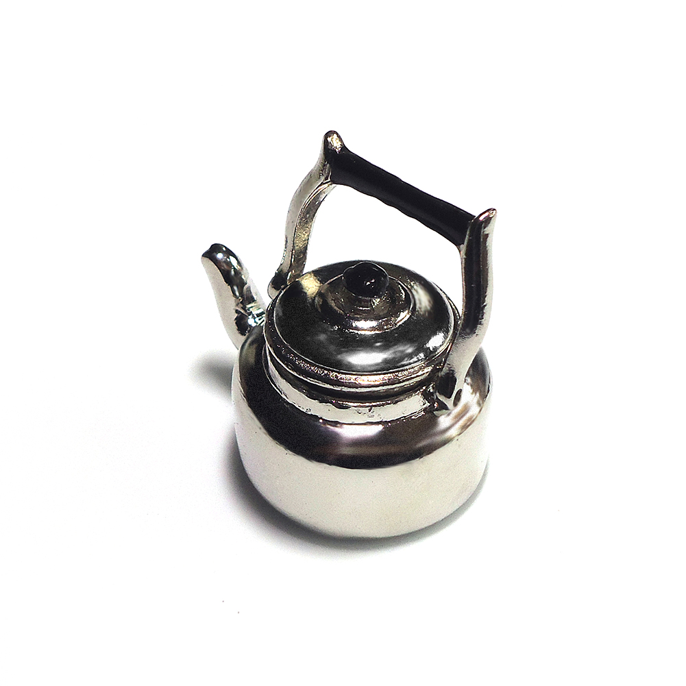 1PCS 1:12 Dollhouse Miniature Copper Tea Kettle Tea Pot ClassicVE