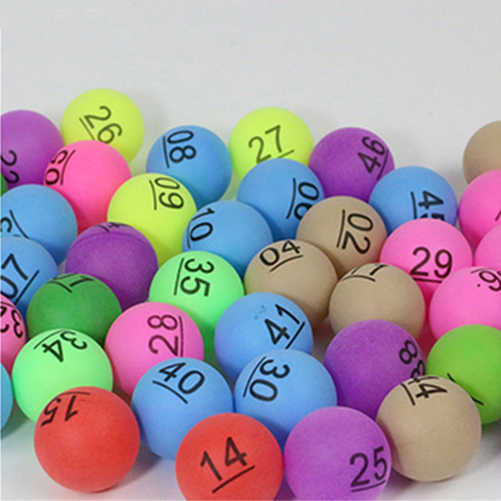 50pcs Ping Pong Ball Beer Pong Table Tennis Lucky Dip Gaming Lottery Washable