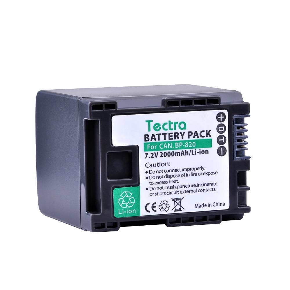 Tectra 1 PC BP 820 BP 820 Replacement Li ion Battery for Canon XA20 XA25 HFG30