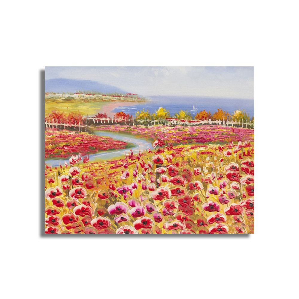 Flowers Tulip Field Wall Pictures Art Poster Print Canvas Painting Calligraphy Decorative Picture for Living Room Home Decor in Painting Calligraphy from Home Garden