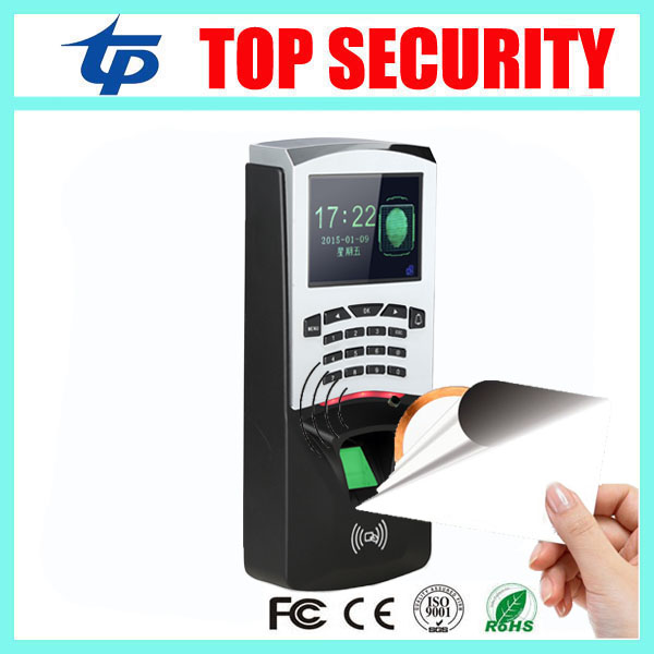 Free shipping fingerprint and 13.56MHZ card access control biometric fingerprint time attendance IC card access controller door security fingerprint access control reader biometric fingerprint time attendance and access controller
