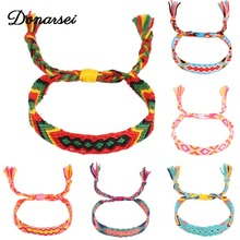 Donarsei Bohemian Handmade Colorful Braided Bracelets For Women Adjustable Charm Weave