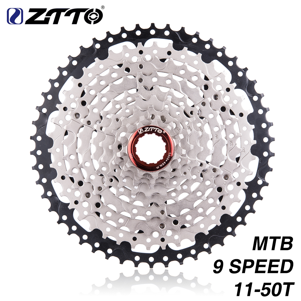 ZTTO MTB Mountain Bike 9 Speed 11 50T Cassette Sprockets Flywheel Ratios Compatible With M430 M4000