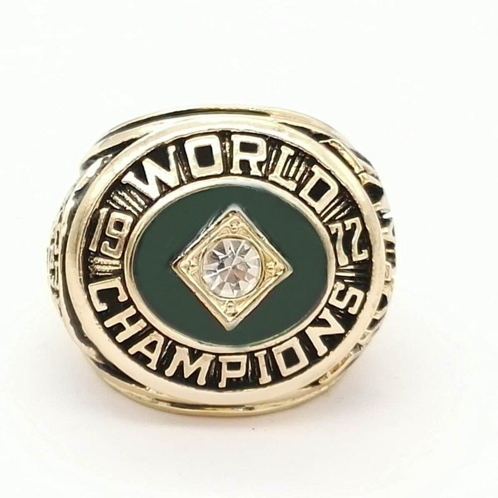 Drop Shipping Good Quality 1972 Oakland Athletics A s Major League Baseball Zinc Alloy Championship Rings