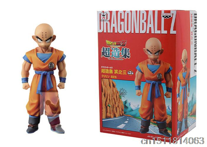 11cm Japanese Anime Banpresto Dragon ball Z Kai Figure Super Structure Concrete Collection Vol 3 Krillin Action Figure Kids Gife 100% original banpresto dxf the super warriors vol 3 collection figure super saiyan god ss vegetto from dragon ball super