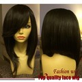 Cheap Sale Brazilian Straight Short Bob Wig Black Glueless Synthetic Lace Front Wig/None Lace Wig Heat Resistant For Black Women