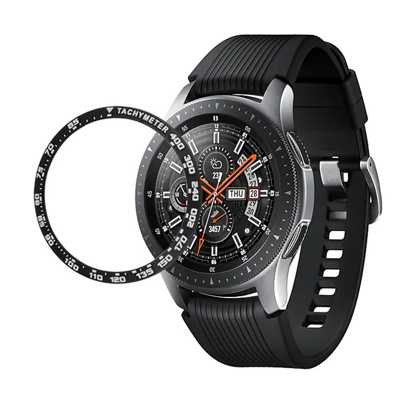 Metal Bezel For Samsung Galaxy Watch 46mm/42mm Case Gear S3 Frontier/Classic Sport Adhesive Cover Band Strap Accessories 46/42 3