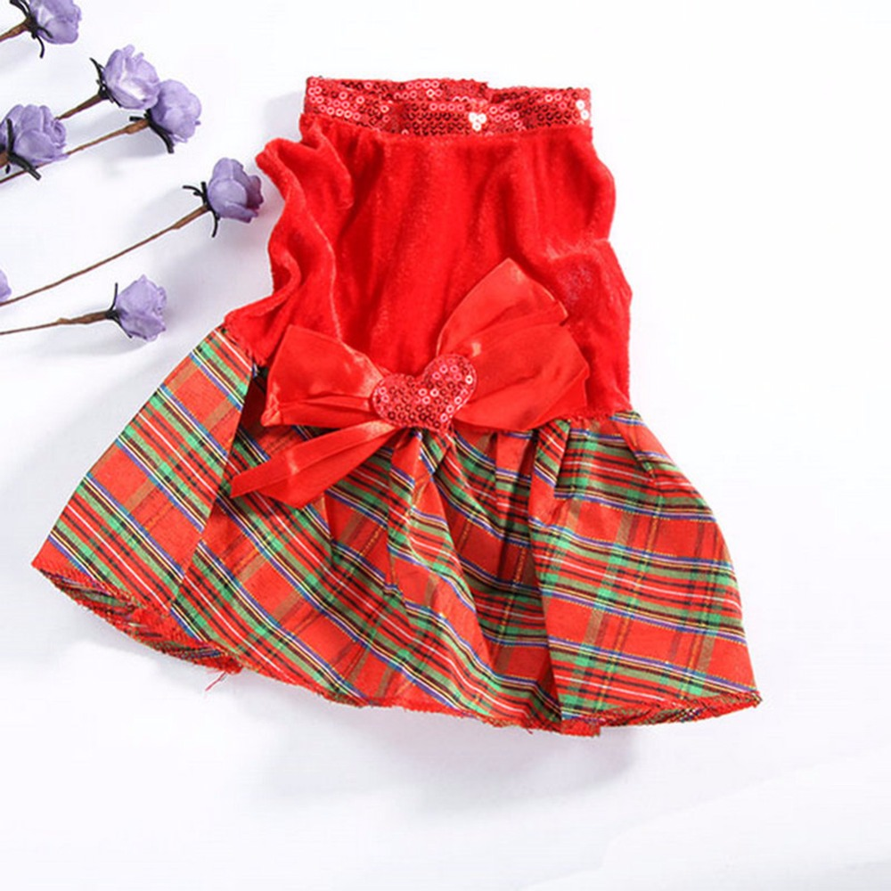 5 Tamanho Novo Vestido de Festa de Natal Roupa Do Cão de Estimação Do Gato Do Cão da Manta Arco Vestuário